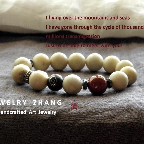 High quality Matte marble  stone zen style bracelet